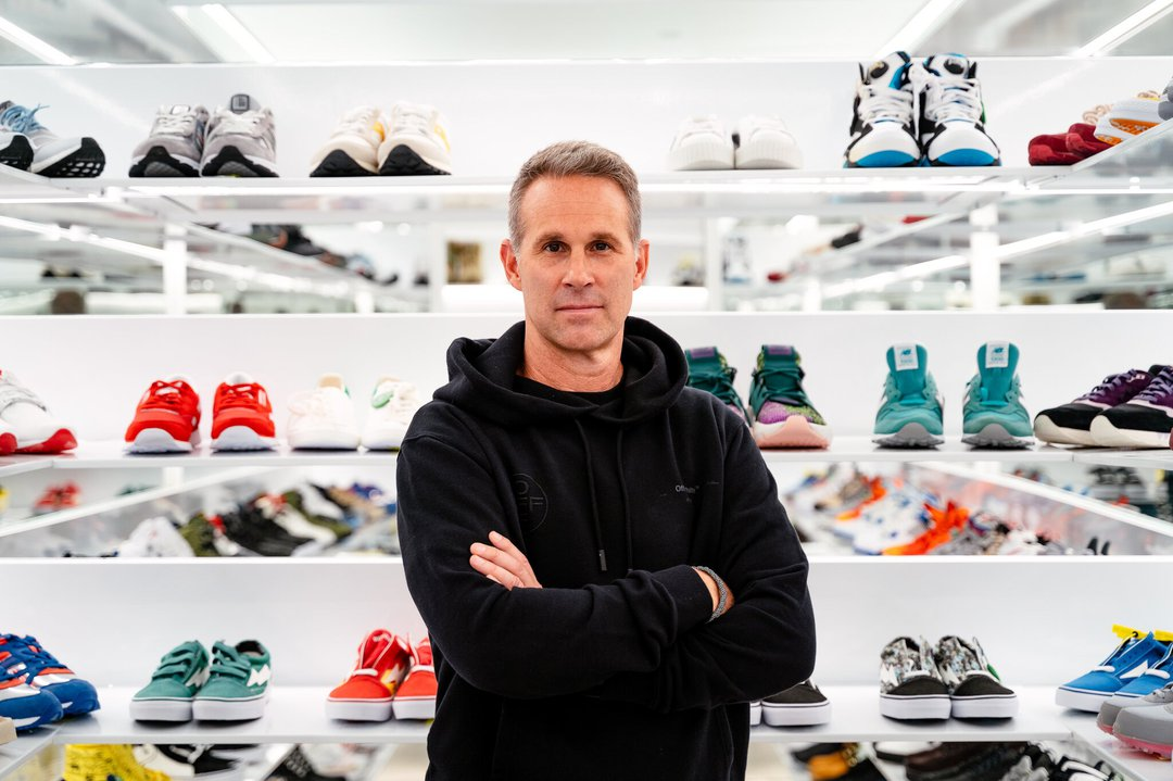 Scott Cutler, chief executive of StockX, a sneaker and collectibles marketplace, said shoe sales in January were nearly double that of a year ago.Credit...Nick Hagen for The New York Times.jpeg