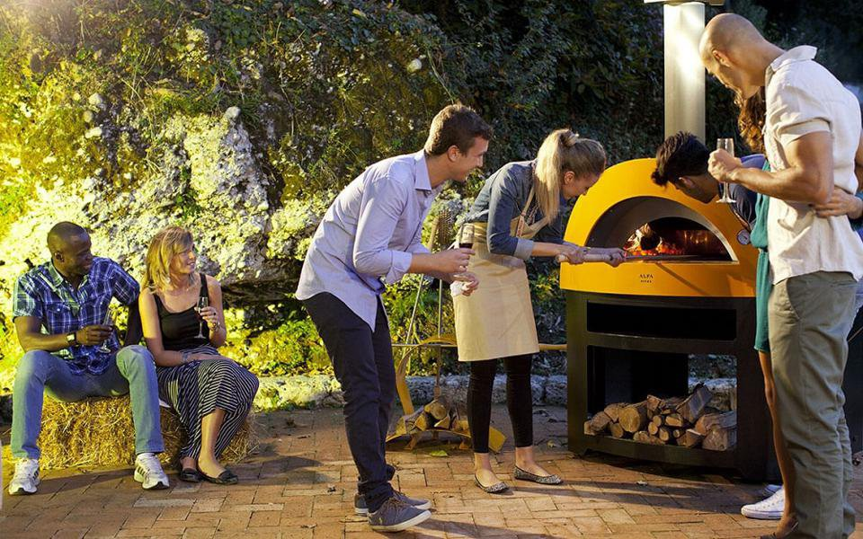 The Allegro pizza oven brings traditional Italian wood fired cooking to Dad's backyard. BBQGUYS.COM .jpeg